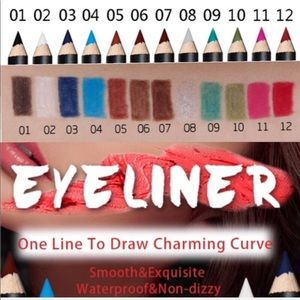 Other - Eyeliner Pencils 12 Pack Bright Colors